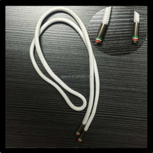 Good quality polyester round shoelace with metal tips /Hot selling metal aglet shoelace for casual shoe, shoe accessory