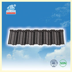 sky blue Shingle colored clay metal roofing tile for villa building