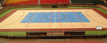 synthetic rubber wood flooring basketball court cover