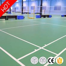 Best selling safe indoor badminton court pvc sports floor for futsal court from china
