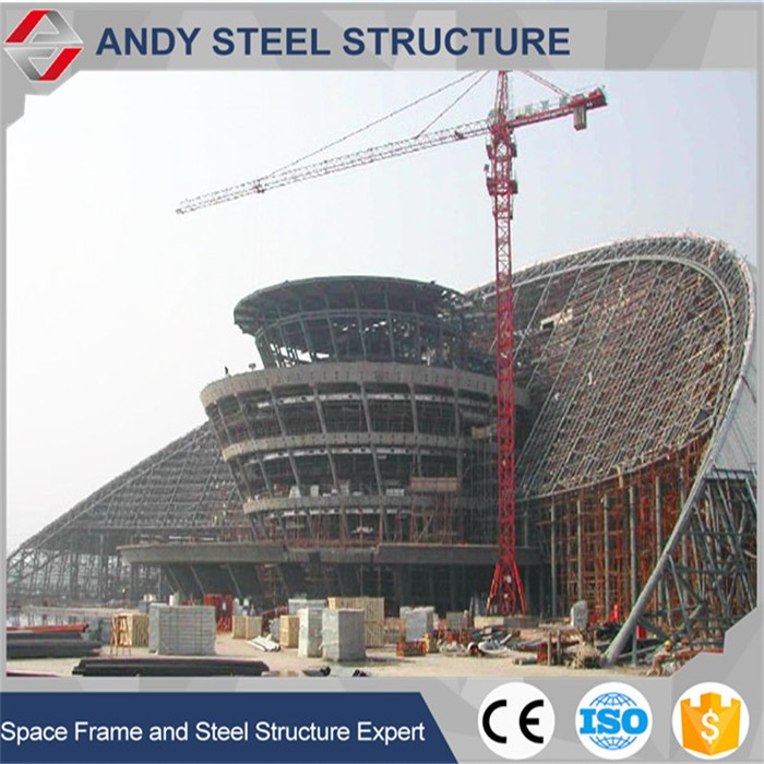 New design football stadium steel roof construction structures