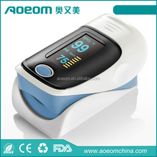 Digital finger pulse oximeter with free carrying case and protective cover