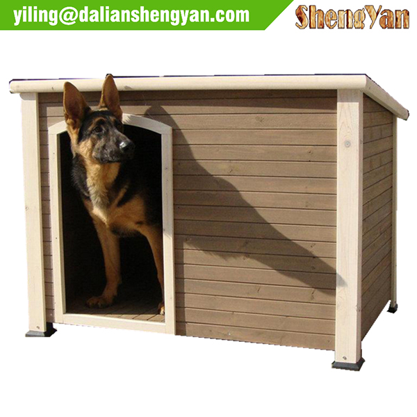 Pitched roof dog house wood