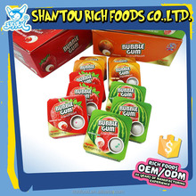 Chinese wholesale fruit flavors round bubble gum