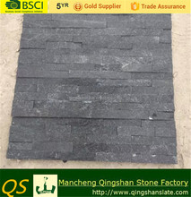 Split Black Quartzite Stone masonry for the wall face of homes