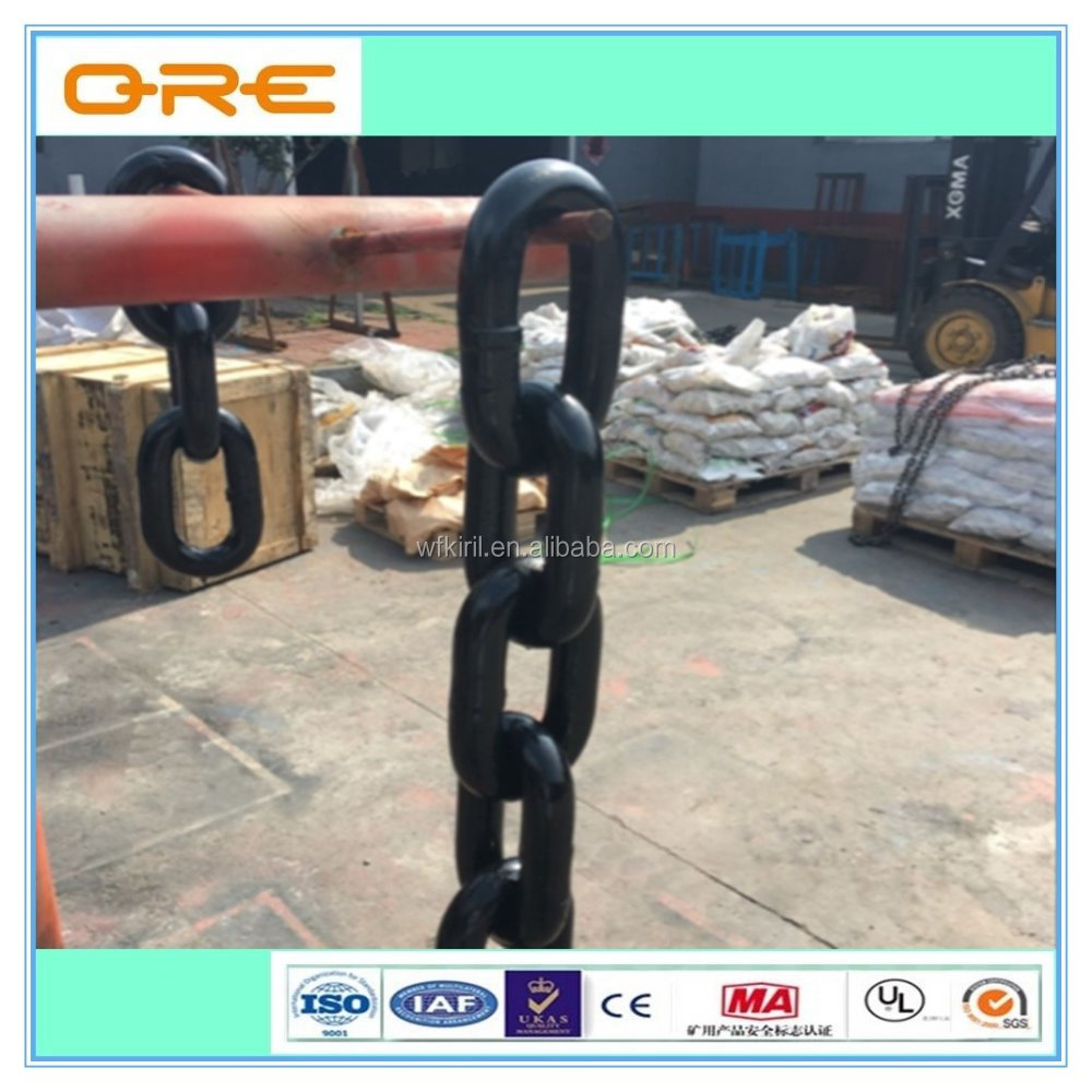alloy steel black color mining chain