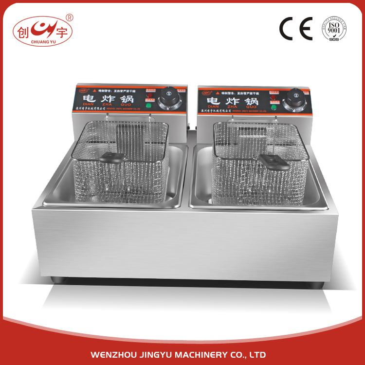 Chuangyu China Latest Products Electric Double Tank Deep Vacuum Fryer Machine For Restaurant Equipment