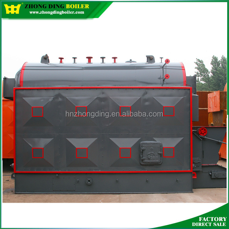 Short period Travelling Grate Horizontal DZL 13Bar 10 ton/hr Sunflower Husk Steam Boilers