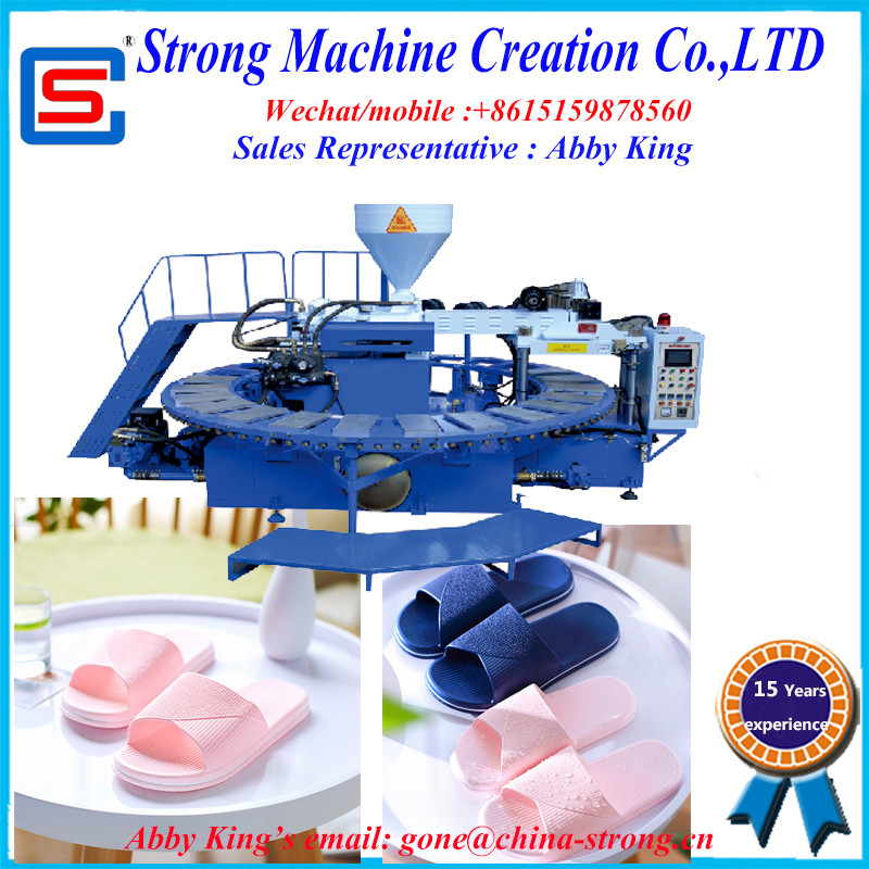 PVC AIR BLOWING injection moulding machine for shoes/slipper/sole