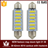 lightpoint new product festoon 4014 6smd led auto light c5w reading light licence plate auto festoon 39mm dome led lights