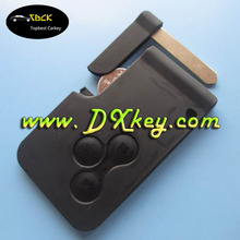 Best price 3 button smart car keys with key blade 433Mhz ID46 chip without logo for Renault megane card key auto parts renault