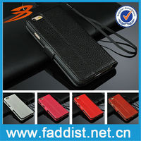 For wallet stand magnetic closure iphone 6 phone case genuine leather case