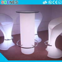RGB color changeable battery rechargeable glowing event led wine table