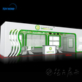 Luxurious Wood Booth LED light promotion kiosk watch exhibition display stand for tradeshow #005