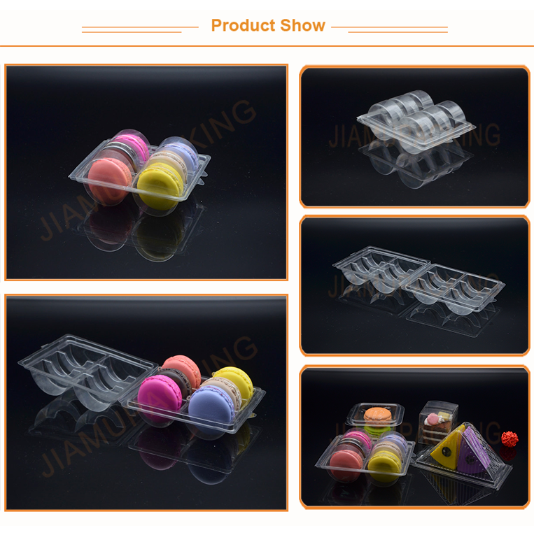 Clear PET customized macaron packaging box hot sale