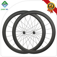 "farsport xiamen chinese carbon rims wheelset 24"" 50mm clincher u shape rims black 3k matte finishing with powerway r13 hub"