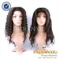 Natural raw indian hair kinky afro curl lace wig