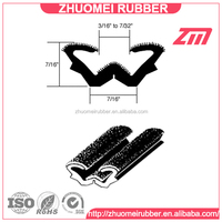 Extruded Flocked Lined Window Rubber Sealing