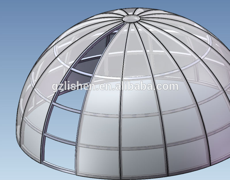 custom made large polycarbonate skylight dome with steel. Black Bedroom Furniture Sets. Home Design Ideas