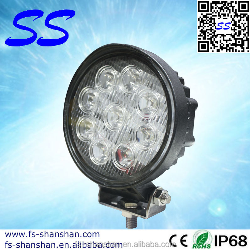 circular LED light Bar 4.5 inch Epsitar 27w,go kart,work lamp,for Off road,garden,yacht,boat accessories,SS-2001