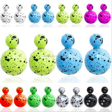paint colorful ball stud earring for girl