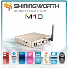 Aluminum Amlogic S812 MXQ KODI installed BT 2.4G+5.0G WIFI M10 MXQ S812 ott tv box Quad Core Android tv box MXQ M10