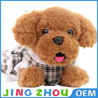 2015 Custom Cheap Plush Toy dog with Beautiful Dress and Plush Stuffed Toys,plush stuffed toy