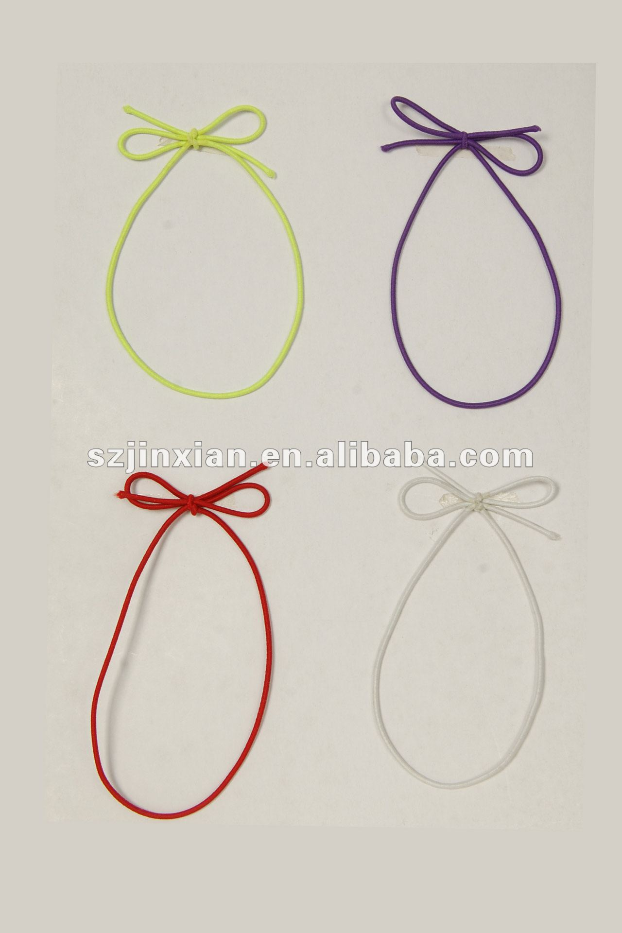 colorful elastic gift cord bow