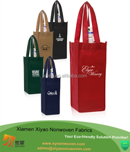 Professional custom 100% Recycled Fabric wine tote bag for gift