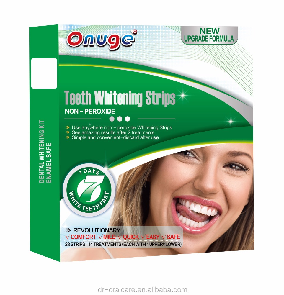 health and beauty product for non peroxide Teeth Whitening Gel Strips