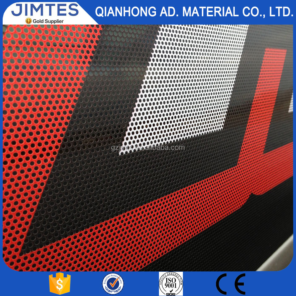 JIMTES outdoor printing material/perforated vinyl/windows graphic