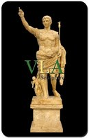 Yellow Elegant Stone Artworks With Man Statue VAS-730