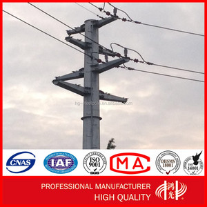 330KV Single or Double Circuit Electric Power Steel Pole Tower