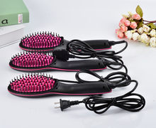 New Arrival Ceramic Hair Brush fast hair straightener led screen fast hair straightener flat iron straight