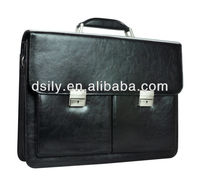 Leather Mens Black Briefcase X8004A130036