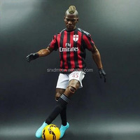 1/6 scale football player action figure/oem soccer action figure for fans/custom lifelike sports players action figure maker
