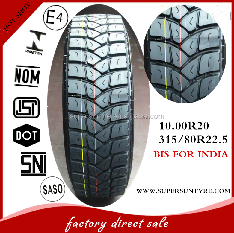 India BIS tyre 1020 10.00r20