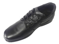 black soft leather loafers anti-slip casual mens dress shoes with cheap price