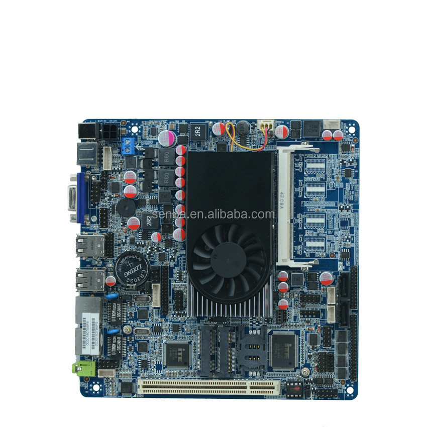 x86 embedded motherboard mini itx intel 1037u with pci slot and ps2 support lvds