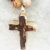 ST0330 Natural stone Cross Pendant Necklace Gold plated Cross stone Jewelry 40 inch knotted picture jasper yoga necklace