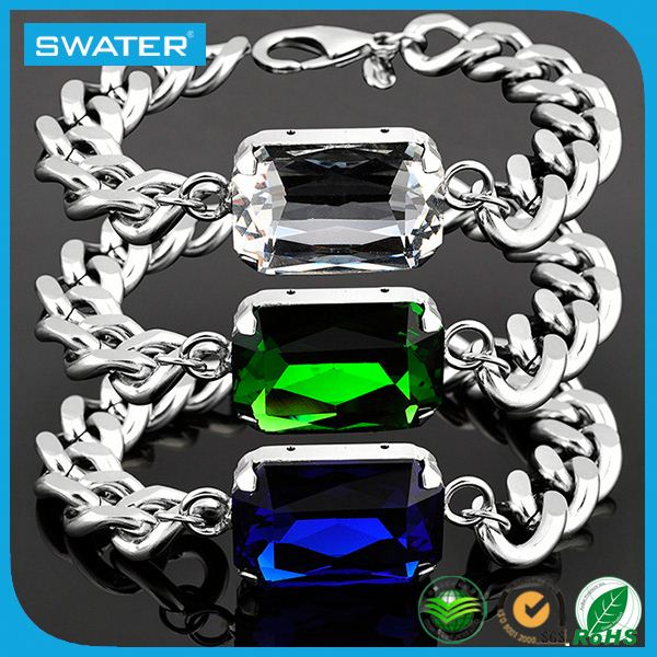 Jewelry Wholesale Stainless Steel Men Jade Bracelet