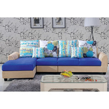 china cheap small corner L shaped high quality fabric sofa
