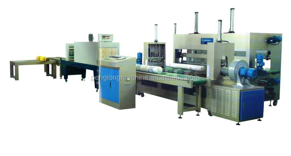 Automatic Fabric Roll Packing Machine/ textile roll wrap packing machine