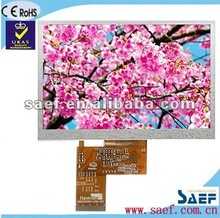 "5.00""inch TFT panel 800*(RGB)*480Dots with Wide Vide Viewing Angel"