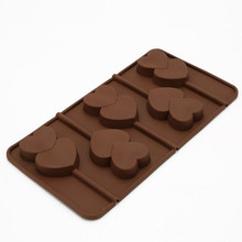 Kitchenware baking tools food grade heart shaped silicone chocolate cake mold