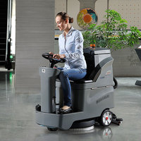 GM-AC Battery Rider Wood Floor Polisher