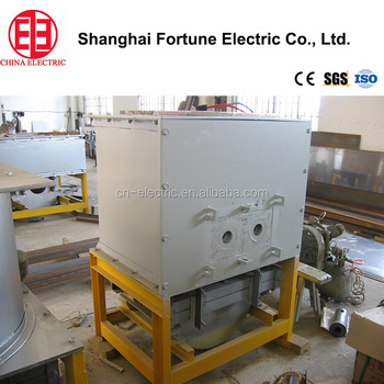 Factory price high efficiency line frequency cored induction smelting furnace from China Shanghai Fortune