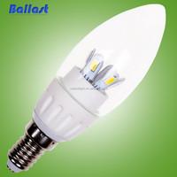 UL CE RoHS Import e14 led bulb flicker flame candle light bulbs 3 watt