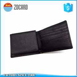 RFID blocking accordion genuine leather , Factory Direct Price Card Wallet