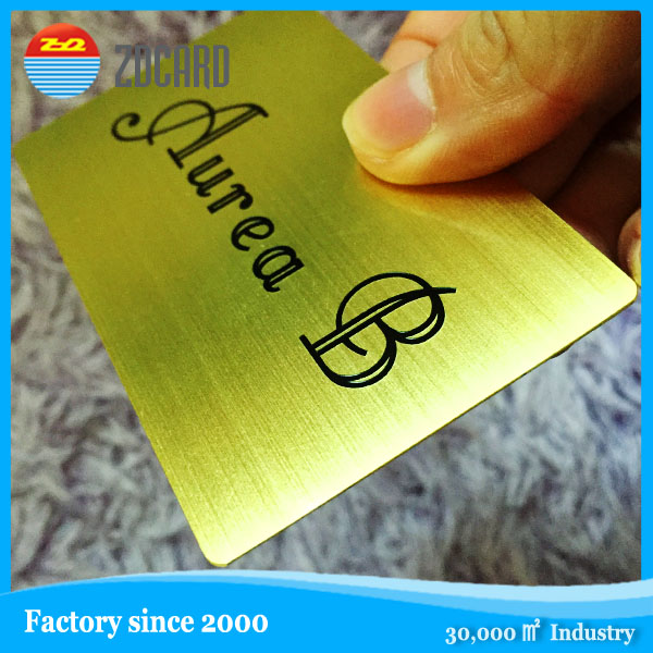 Stainless steel etching metal card with customized craft
